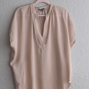 Vince 100% Silk Short Sleeve Tunic Sz Large